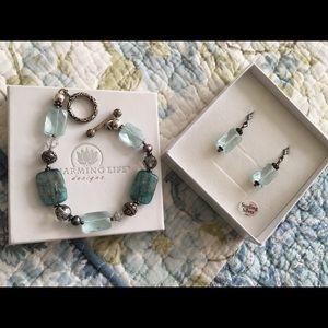 Bracelet and earrings NWOT